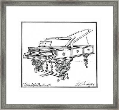 Bosendorfer Centennial Grand Piano Framed Print by Ira Shander