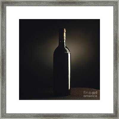 Bottle Of Bordeaux Wine Framed Print by Bernard Jaubert