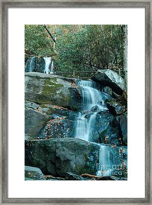 Framed Print featuring the photograph  Bottom Of Laurel Falls by Patrick Shupert