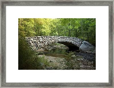 Boulder Bridge Washington D.c Framed Print by Heinz G Mielke