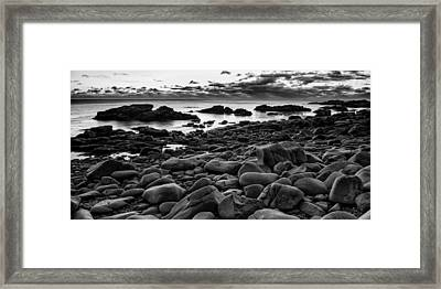 Boulders At Sunrise Marginal Way Framed Print