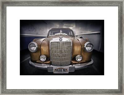 Framed Print featuring the photograph  Boxed-in-benz...... by Russell Styles