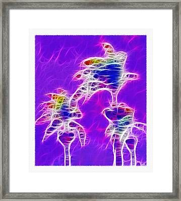 Brazilian Monsoon - Fractal Framed Print by Steve Ohlsen