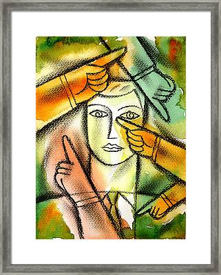 Bureaucracy  Framed Print by Leon Zernitsky