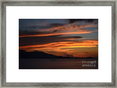 Burning Sky Framed Print by Michelle Meenawong