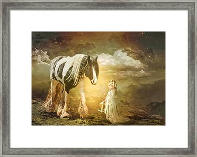 By Lantern Light Framed Print