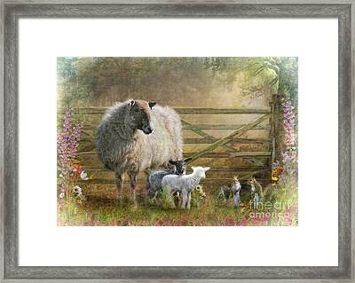 By The Gate Framed Print