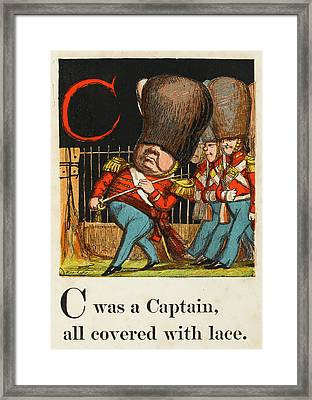 C -  Was A Captain All Covered With Framed Print by Mary Evans Picture Library
