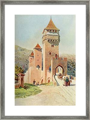 Cahors  Pont Valentre        Date 1904 Framed Print by Mary Evans Picture Library