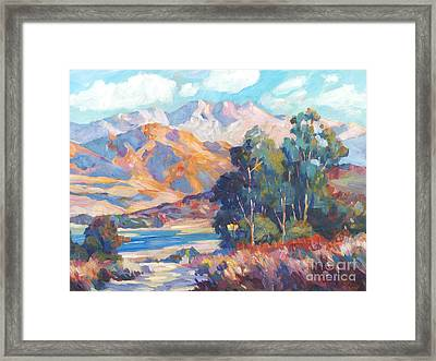 California Lake Framed Print by David Lloyd Glover