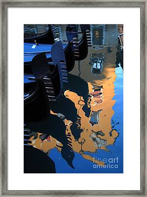 Canal Shimmer Framed Print by Jacqueline M Lewis