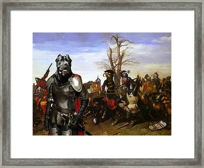 Cane Corso Art Canvas Print - Swords And Bravery Framed Print