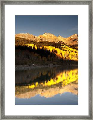 Canoe Camp On Trout Lake Framed Print