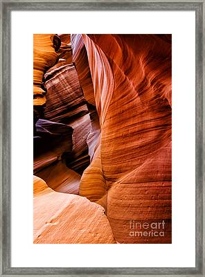 Canyon X Slot Canyon Framed Print by Thomas R Fletcher