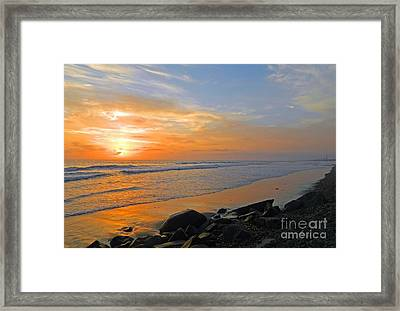 Carlsbad State Beach Framed Print by Everette McMahan jr