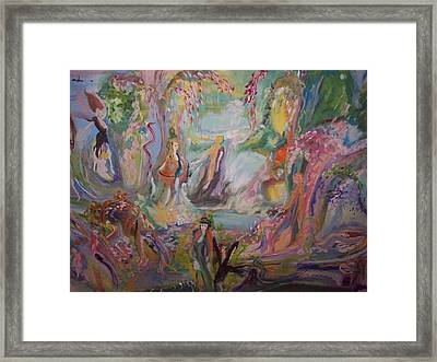 Cascade Of Care And Life Framed Print by Judith Desrosiers