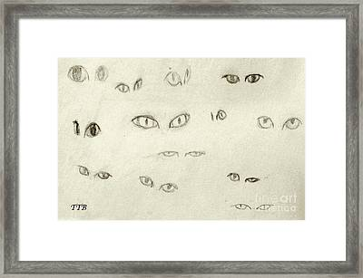 Cat Eyes - 1 Framed Print