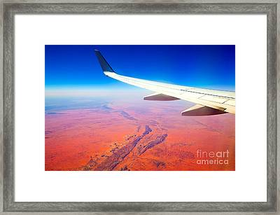Central Australia From The Air  Framed Print by Bill  Robinson