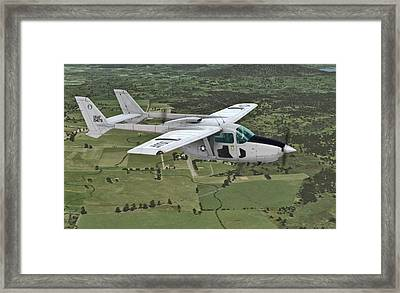 Cessna 0-2a Skymaster Framed Print by Walter Colvin