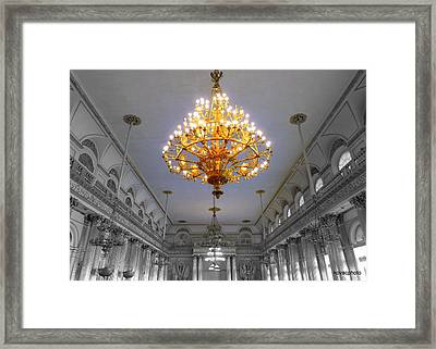 Chandelier  Framed Print by David Kovac