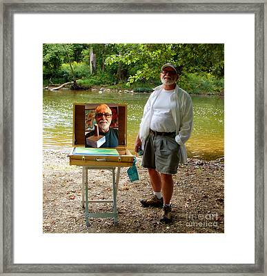 Charlie Charlie And Tony Framed Print by Charlie Spear
