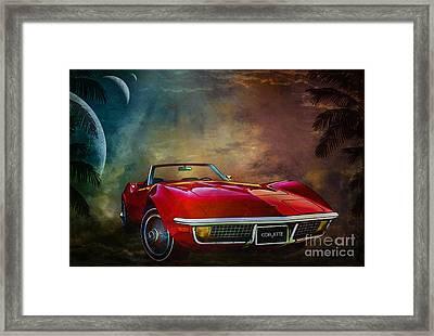 Chevrolet Corvette1972 Framed Print by Andrzej Szczerski