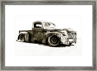 Chevy Pickup Patina  Framed Print by motography aka Phil Clark