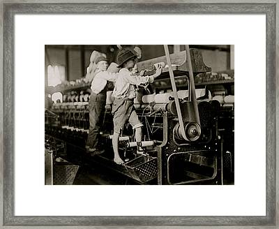 Child Laborers Framed Print by Unknown