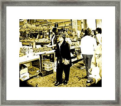 China Town Marketplace Framed Print
