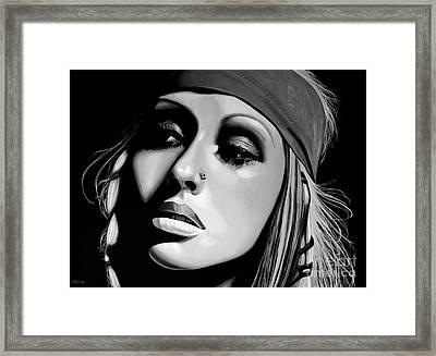 Christina Aguilera Framed Print by Meijering Manupix