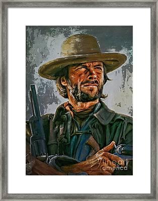 Clint Eastwood Framed Print by Andrzej Szczerski