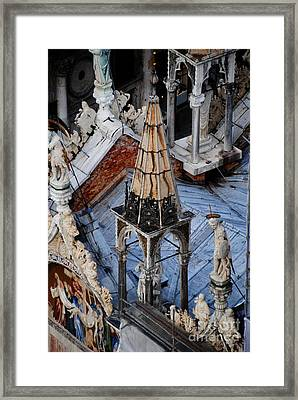 Close-up Of Basilica  Framed Print by Jacqueline M Lewis