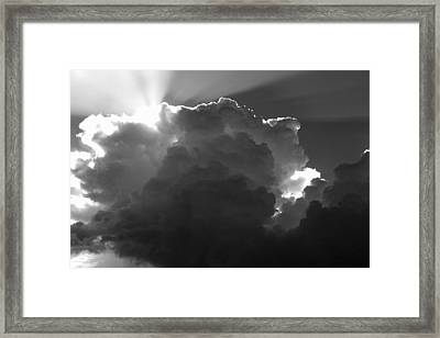Clouds 1 Bw Framed Print by Maxwell Amaro
