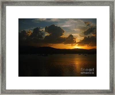 Cloudy Sunset Framed Print by Michelle Meenawong