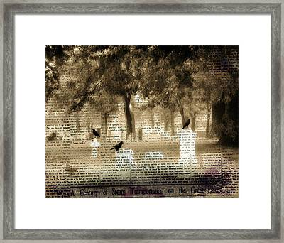 Collage Of Goth Framed Print by Gothicrow Images