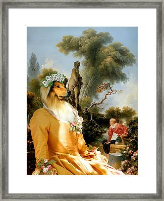 Collie Rough - Rough Collie Art Canvas Print Framed Print by Sandra Sij