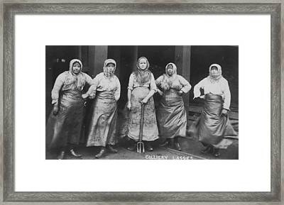 'colliery Lasses' Of Wigan Framed Print by Mary Evans Picture Library