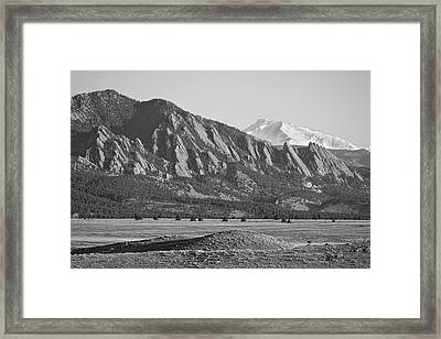 Colorado Rocky Mountains Flatirons With Snow Covered Twin Peaks Framed Print by James BO  Insogna