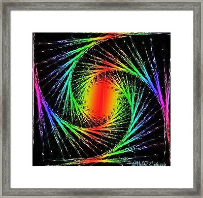 Colorful Fractals Framed Print by Mikki Cucuzzo