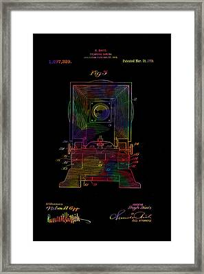 Colorful Retro Camera Patent From 1919 Framed Print by Eti Reid