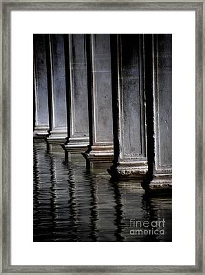 Columns Doubled Framed Print by Jacqueline M Lewis