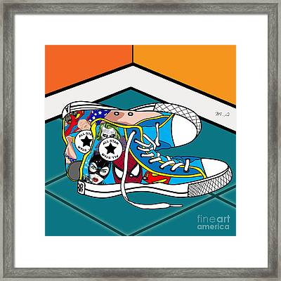 Comics Shoes Framed Print by Mark Ashkenazi
