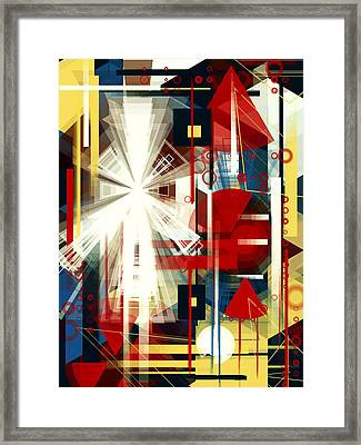Coming Train Framed Print