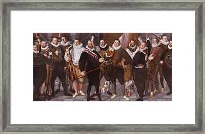 Company Of Captain Dirck Jacobsz Rosecrans And Lieutenant Pauw. Amsterdam Framed Print by Cornelis Ketel