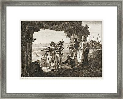 Comte Andreossi Surveys  Antique Sites Framed Print by Mary Evans Picture Library