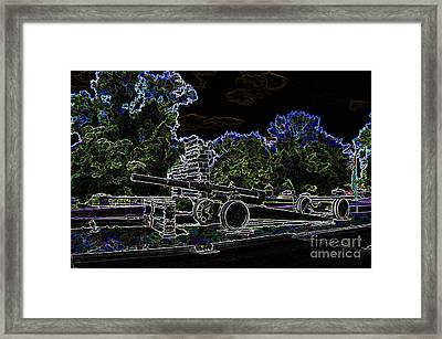 Contemporary  -  Illinois Veterans Home Entrance  -  Luther Fine Art Framed Print by Luther Fine Art