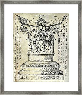 Corinthian Column Framed Print by Jon Neidert
