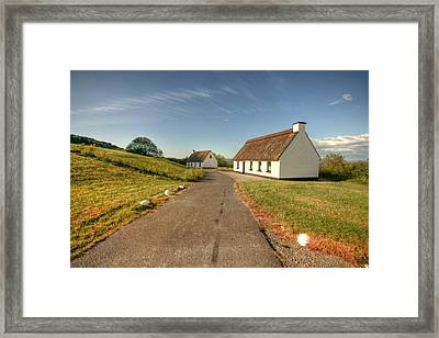 Corofin Thatched Cottages Framed Print