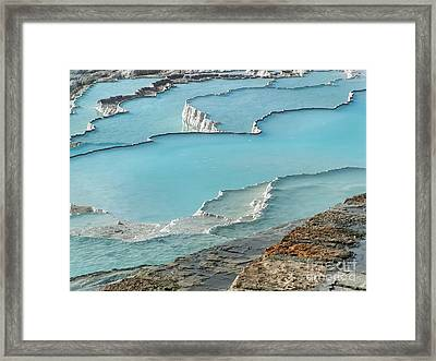 Cotton Castle Surrounded By Azure Pools Framed Print