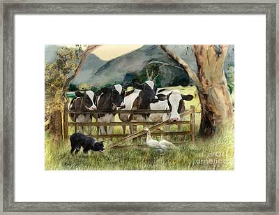 Country Characters Framed Print by Trudi Simmonds